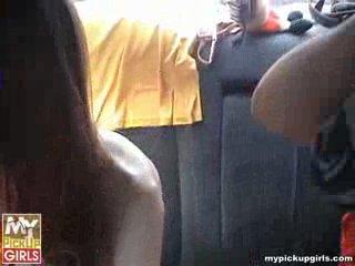 Питерская чика думала, что ребята на машине подвезут её к универу, но она ошиблась